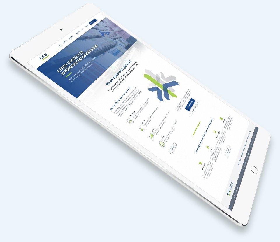 iPad Screenshot of Website