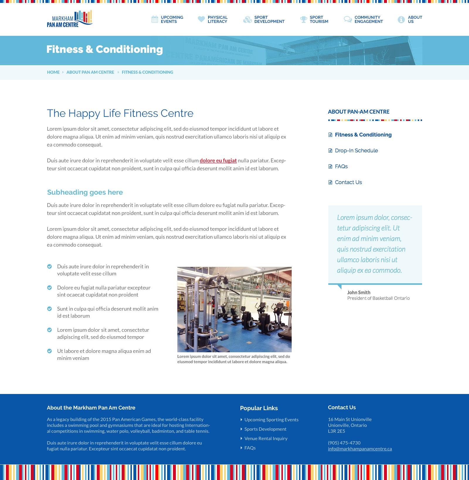 Standard Subpage Screenshot